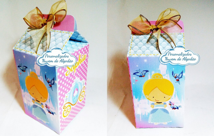 Caixa milk Cinderela Baby-Caixa milk Cinderela Baby Fazemos em qualquer tema. Envie nome e idade para personalização.  -