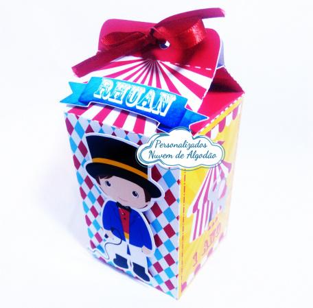 Caixa milk Circo-Caixa milk Circo Fazemos em qualquer tema. Envie nome e idade para personalização.  - Produto