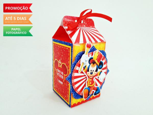 Caixa milk Circo do Mickey-Caixa milk Circo do Mickey Fazemos em qualquer tema. Envie nome e idade para personalização.