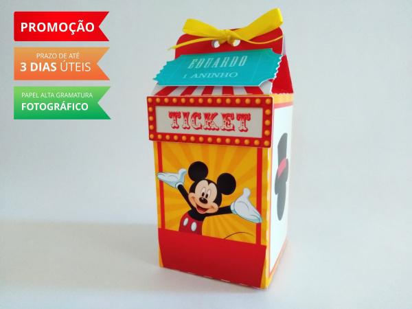 Caixa milk Circo do Mickey Mouse-Caixa milk Circo do Mickey Mouse Fazemos em qualquer tema. Envie nome e idade para personalizaçã