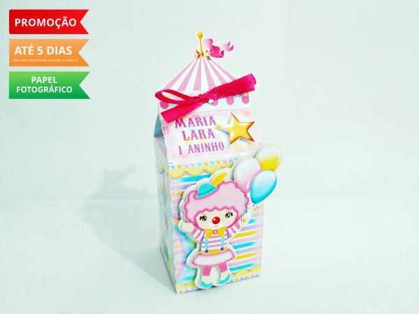 Caixa milk Circo rosa - palhacinha-Caixa milk Circo rosa - palhacinha Fazemos em qualquer tema. Envie nome e idade para personalizaç