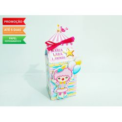 Caixa milk Circo rosa - palhacinha