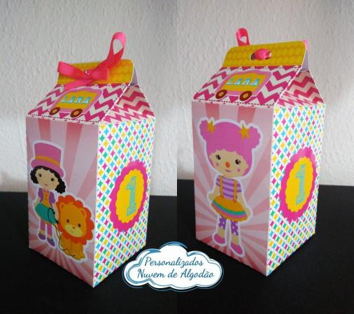 Caixa milk Circo Menina Rosa-Caixa milk Circo Menina Rosa Fazemos em qualquer tema. Envie nome e idade para personalização.