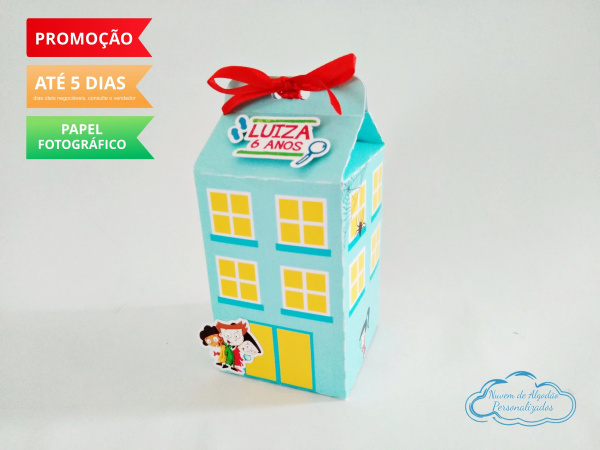 Caixa milk D.P.A Prédio-Caixa milk D.P.A Prédio  Fazemos em qualquer tema. Envie nome e idade para personalização.  -