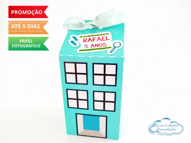 Nuvem de algodão personalizados - Caixa milk D.P.A Prédio Azul