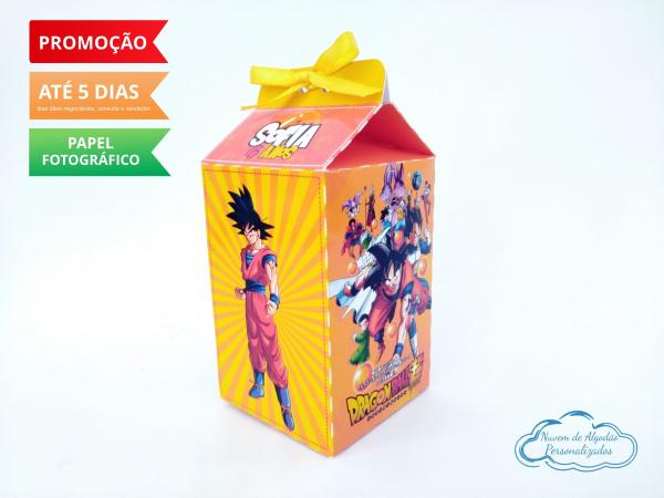 Caixa milk Dragon Ball-Caixa milk Dragon Ball Fazemos em qualquer tema. Envie nome e idade para personalização.  - Pr