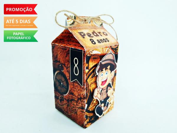 Caixa milk Explorador-Caixa milk Explorador Fazemos em qualquer tema. Envie nome e idade para personalização.  - Pro