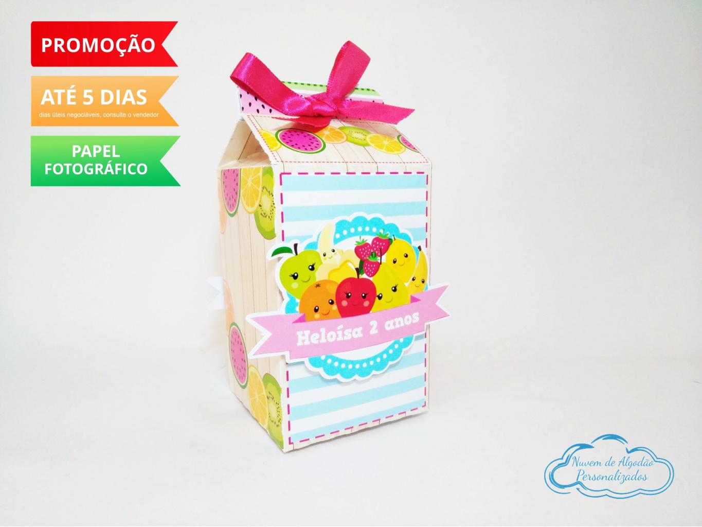 Nuvem de algodão personalizados - Caixa milk Feira frutinhas
