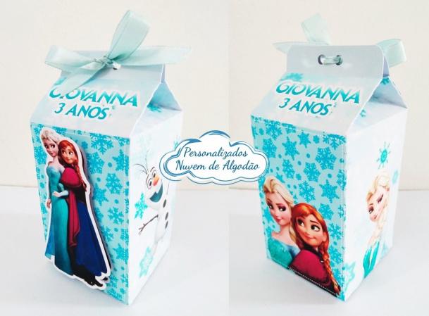 Caixa milk Frozen-Caixa milk Frozen Fazemos em qualquer tema. Envie nome e idade para personalização.  - Produto