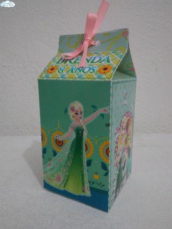 Caixa milk Frozen Fever-Caixa milk Frozen Fever Fazemos em qualquer tema. Envie nome e idade para personalização.  - P