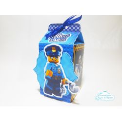 Caixa milk Lego - Policial