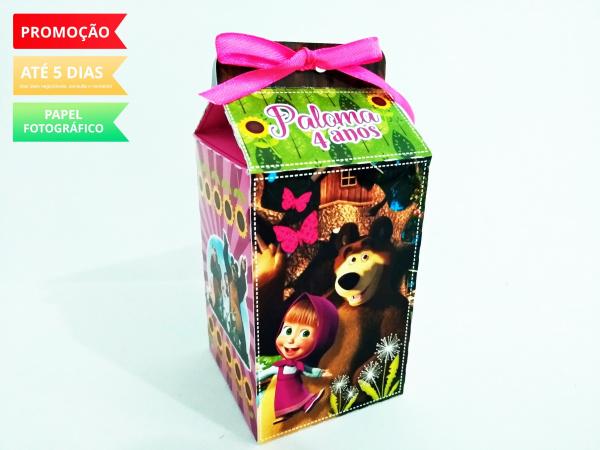 Caixa milk Masha e o Urso-Caixa milk Masha e o Urso Fazemos em qualquer tema. Envie nome e idade para personalização.  -