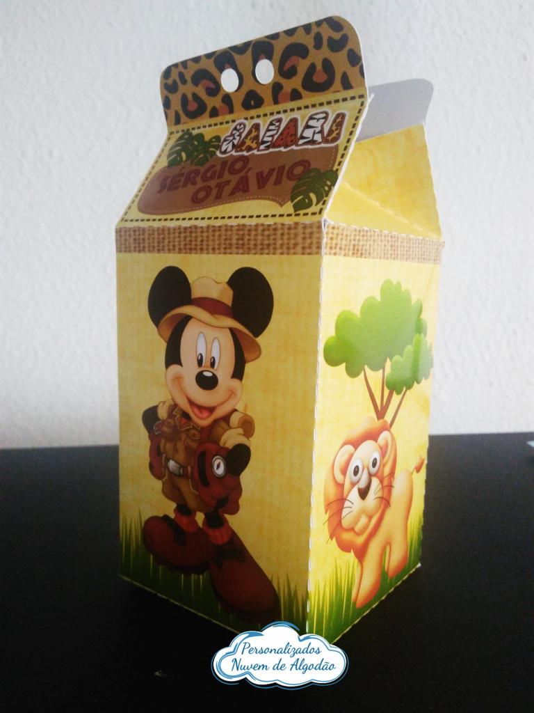 Nuvem de algodão personalizados - Caixa milk Mickey Safari