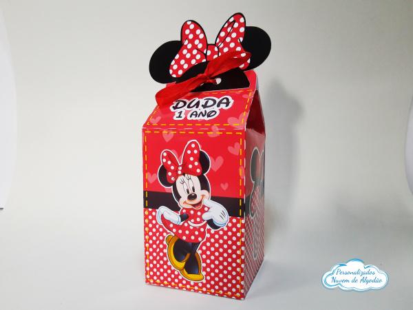 Caixa milk Minnie Vermelha-Caixa milk Minnie Vermelha  Fazemos em qualquer tema. Envie nome e idade para personalização.