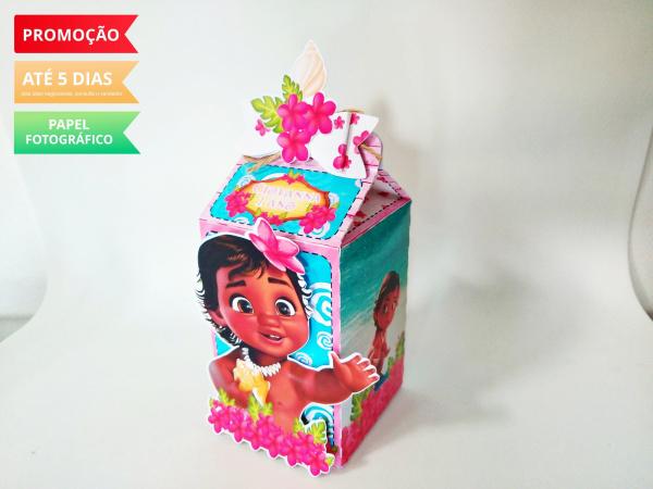 Caixa milk Moana Baby Laço-Caixa milk Moana Baby Laço Fazemos em qualquer tema. Envie nome e idade para personalização.