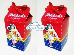 Caixa milk Mulher Maravilha