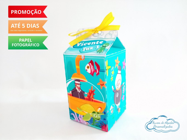 Nuvem de algodão personalizados - Caixa milk Mundo bita fundo do mar