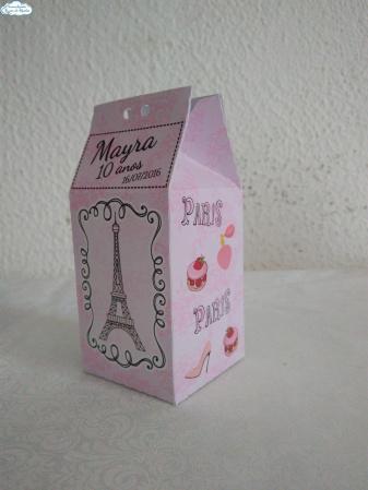 Caixa milk Paris Rosa-Caixa milk Paris Rosa Fazemos em qualquer tema. Envie nome e idade para personalização.  - Pro