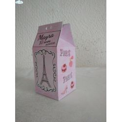Caixa milk Paris Rosa