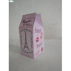 Caixa milk Paris Rosa