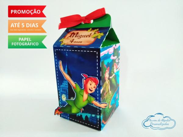 Caixa milk Peter Pan-Caixa milk Peter Pan Fazemos em qualquer tema. Envie nome e idade para personalização.  - Prod