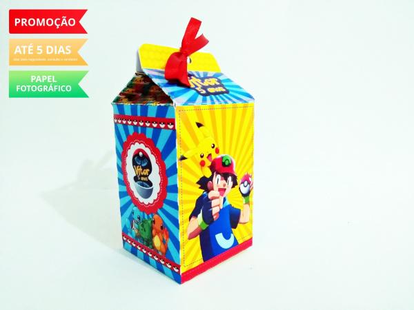 Caixa milk Pokemon-Caixa milk Pokemon Fazemos em qualquer tema. Envie nome e idade para personalização.  - Produt