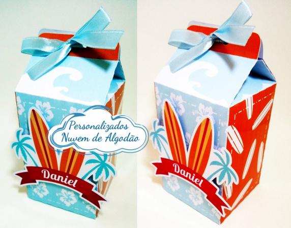 Caixa milk Praia-Caixa milk Praia com aplique Fazemos em qualquer tema. Envie nome e idade para personalização.