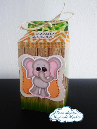 Caixa milk Safari-Caixa milk Safari Fazemos em qualquer tema. Envie nome e idade para personalização.  - Produto
