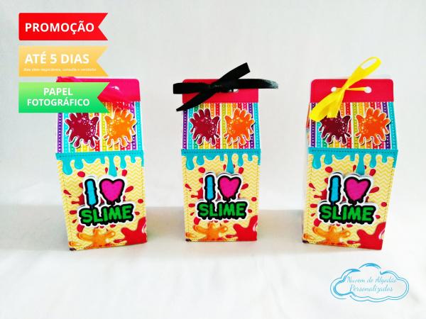 Caixa milk Slime-Caixa milk Slime Fazemos em qualquer tema. Envie nome e idade para personalização.  - Produto
