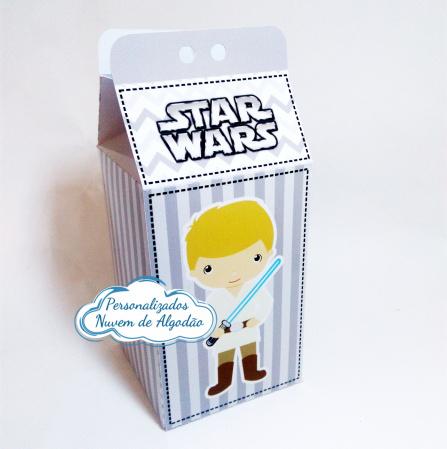 Caixa milk Star Wars-Caixa milk Star Wars  Fazemos em qualquer tema. Envie nome e idade para personalização.  - Pro
