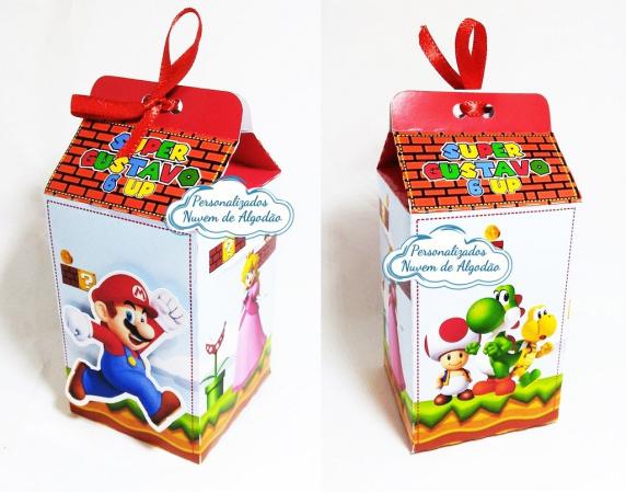 Caixa milk Super Mario-Caixa milk Super Mario  Fazemos em qualquer tema. Envie nome e idade para personalização.  - P