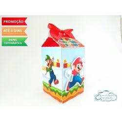 Caixa milk Super Mario Luigi