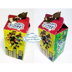 Caixa milk Tartarugas ninja