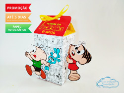 Caixa milk Turma da Mônica