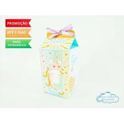 Caixa milk Unicórnio dourado