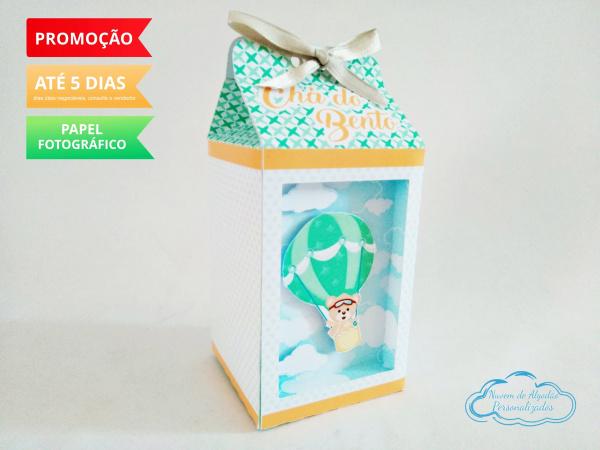 Caixa milk Ursinho Baloeiro-Caixa milk Ursinho Baloeiro  Fazemos em qualquer tema. Envie nome e idade para personalização.