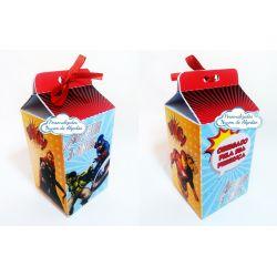 Caixa milk Vingadores herois
