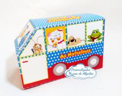 Caixa ônibus Galinha pintadinha-Caixa ônibus Galinha pintadinha  Fazemos em qualquer tema. Envie nome e idade para personalizaç