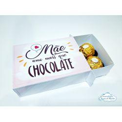 Caixa para 6 docinhos - Dia das mães - Amo mais que chocolate