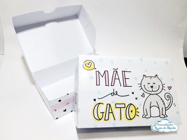 Caixa para 6 docinhos - Dia das mães - Mãe de gato-Caixa para 6 docinhos - Dia das mães - Mãe de gato  - Diversas estampas (consulte-nos) - Papel