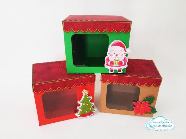 Caixa para caneca com visor Natal-Caixa para caneca com visor Natal   - Fazemos qualquer tema. - Visor em acetato - Produto vai de