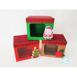 Caixa para caneca com visor Natal