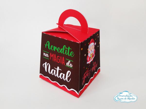 Caixa para mini panetone 80g Natal-Caixa para mini panetone 80g Natal  - Papel fotográfico glossy 230g - Produto vai desmontado. -