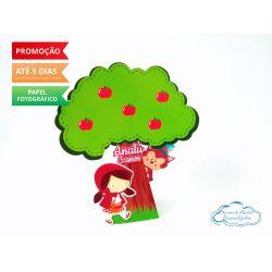 Caixa pirâmide  árvore Chapeuzinho Vermelho