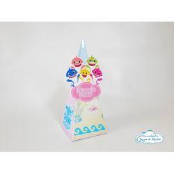 Caixa pirâmide Baby Shark menina
