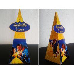 Caixa pirâmide Bela e a Fera