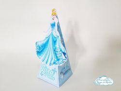 Caixa pirâmide Cinderela