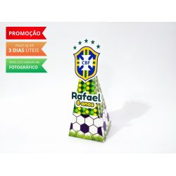 Caixa pirâmide Copa do mundo - Brasil