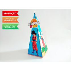 Caixa pirâmide Dragon Ball Azul