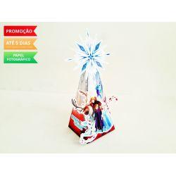 Caixa pirâmide Frozen 2